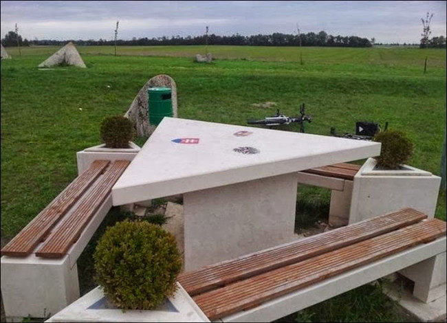 17) Austria, Hungary, and Slovakia - This picnic table marks the location where the borders of the three EU nations meet.