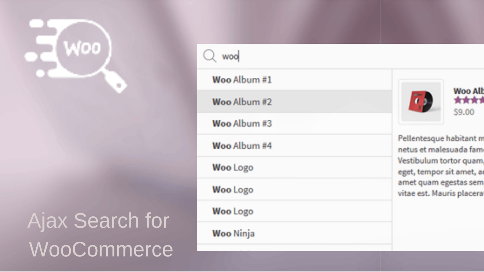 Ajax Search for WooCommerce WordPress search plugins