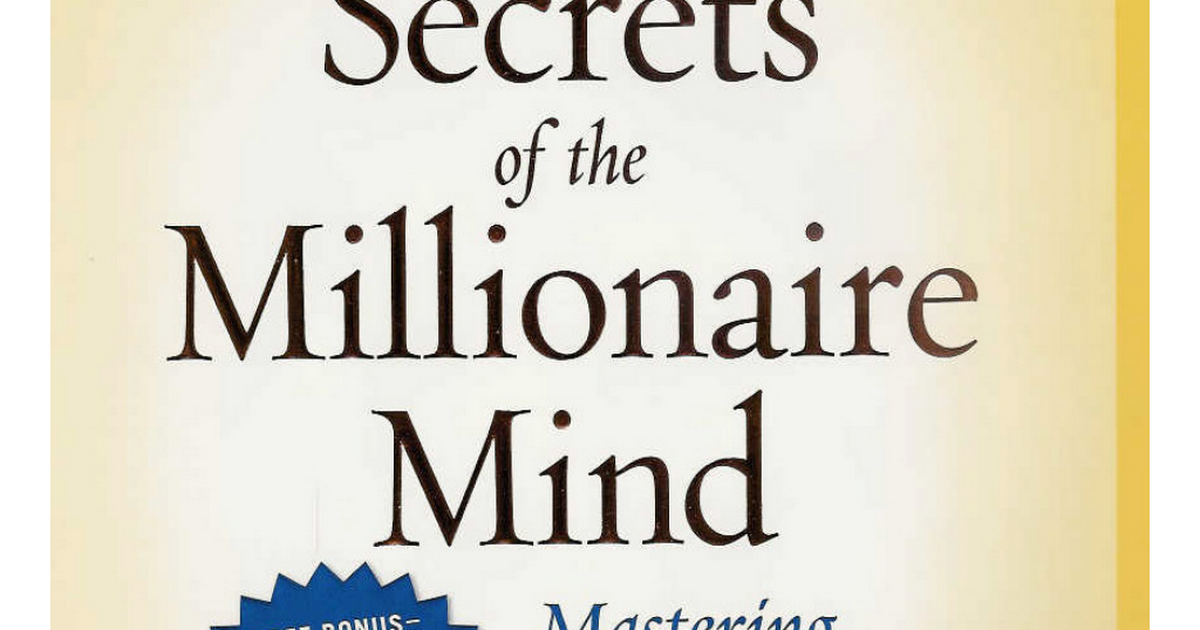 Secrets Of The Millionaire Mind Pdf Google Drive