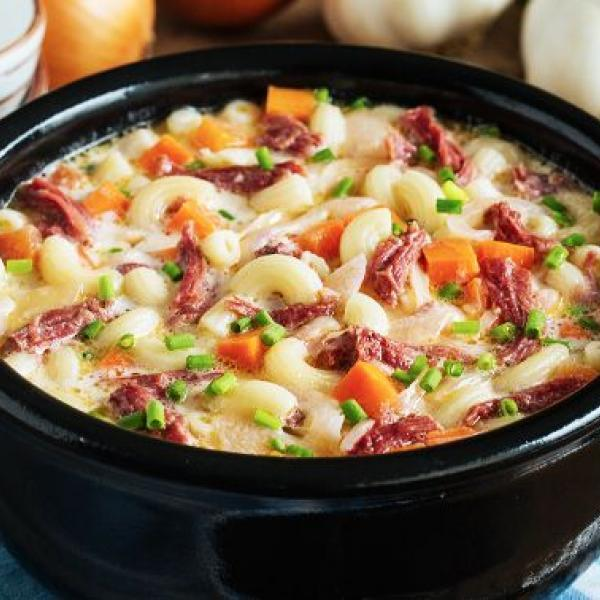 hearty meals creamy sopas with corned beef
