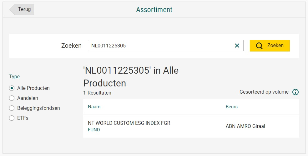 NT WORLD CUSTOMER ESG INDEX