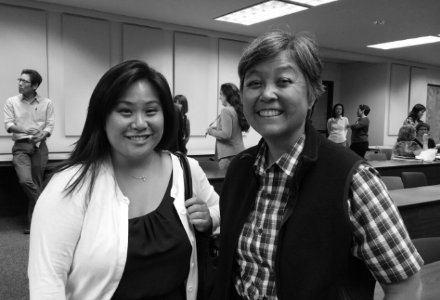 KCC Counselor Shannon Sakamoto (L) and Digital Initiatives Librarian Sunny Pai (R)