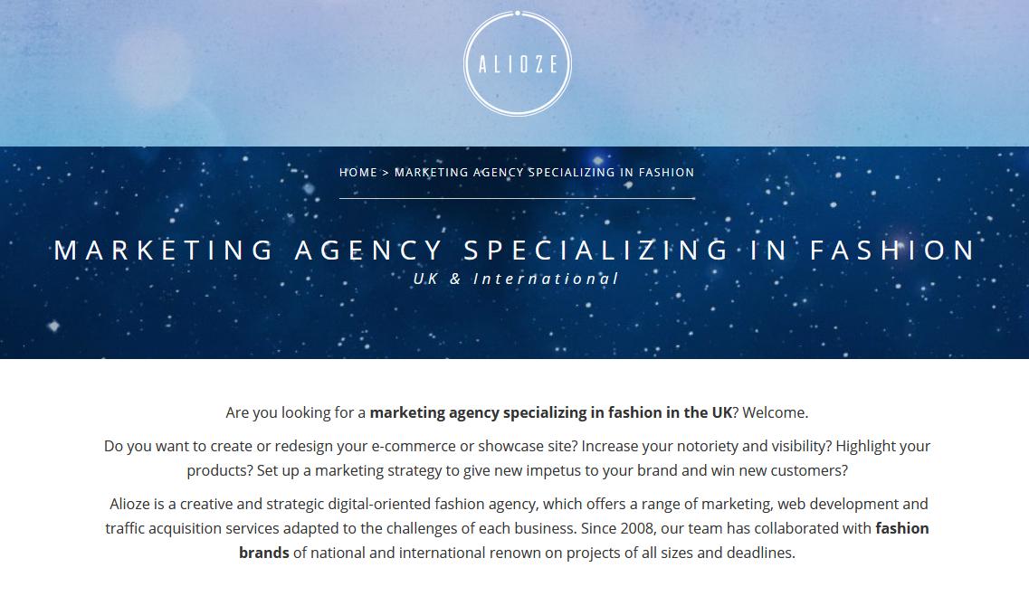 Top Marketing Agency Specialising in Fashion Marketing