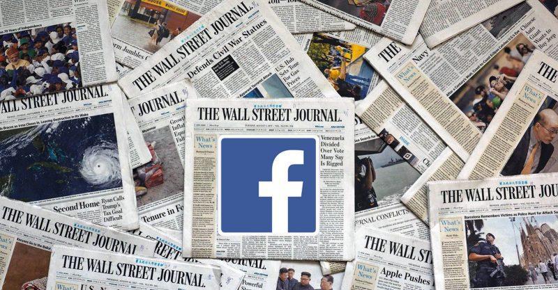 Η συντακτική επιτροπή του WSJ κάλεσε συγκεκριμένα το Facebook.