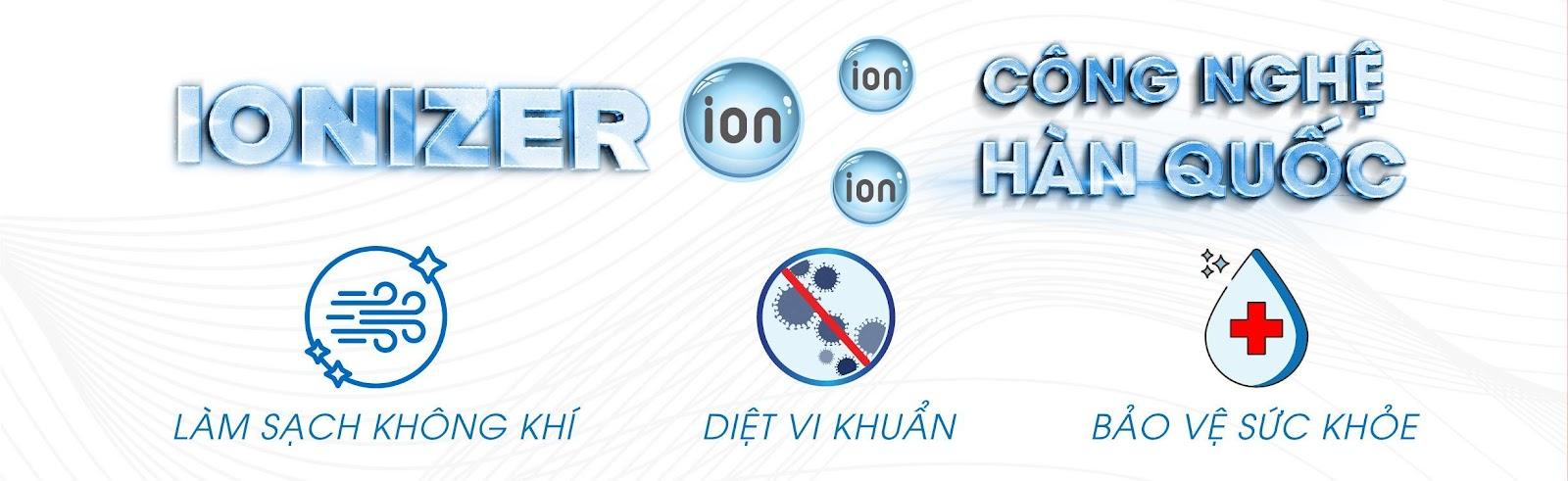 Tạo Ion âm làm sạch không khí, diệt vi khuẩn, bảo vệ sức khỏe