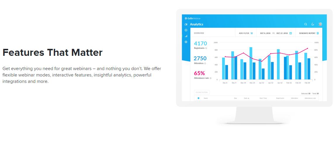 GoToWebinar features that matter