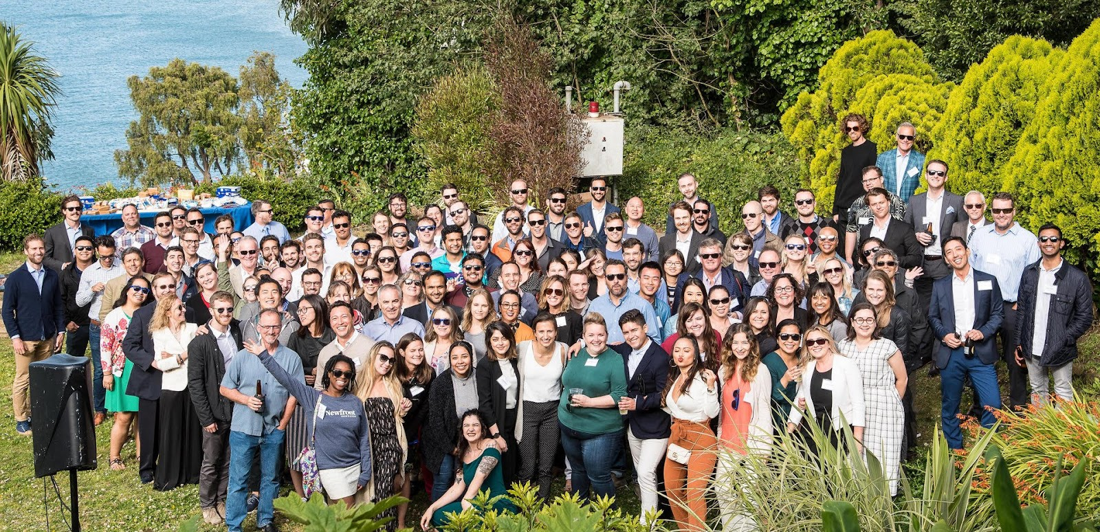 Group photo of Newfront Insurance employees