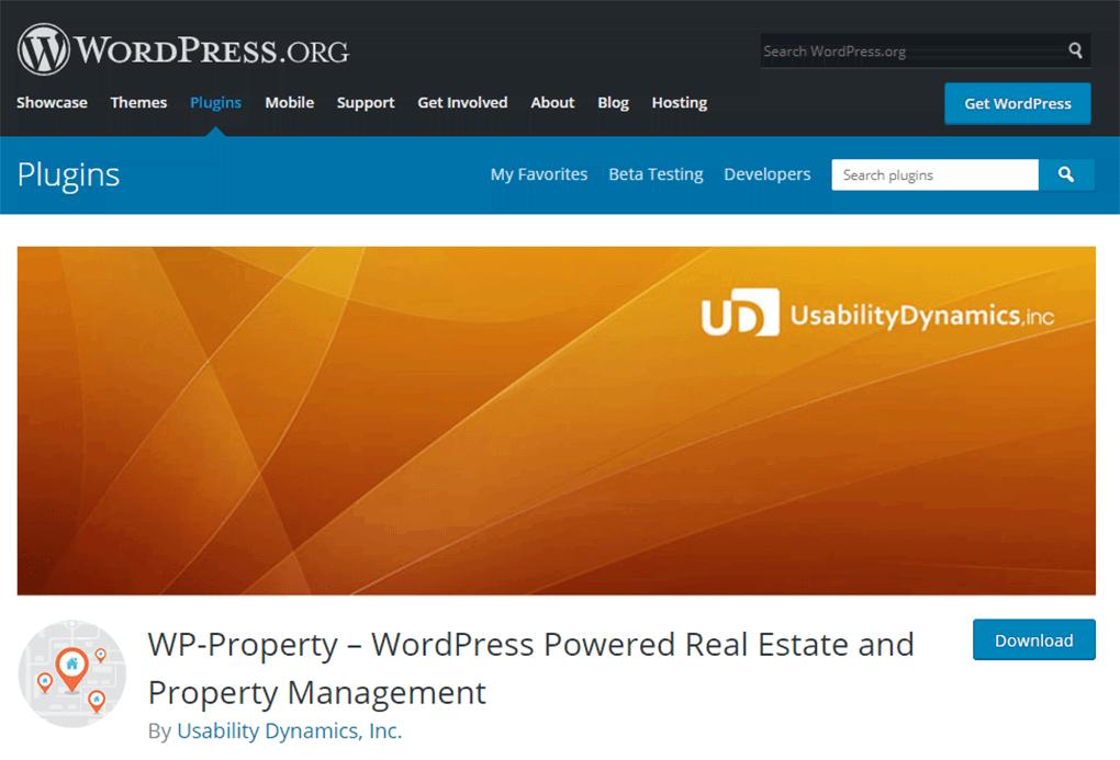 plugin para wordpress wp-property de site de imobiliária