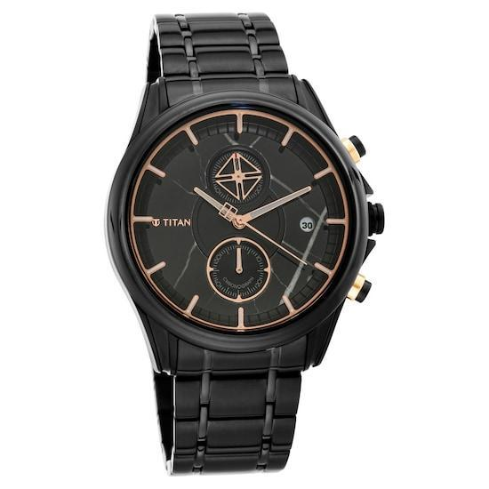 Bold Statement In Black Chronograph Watches