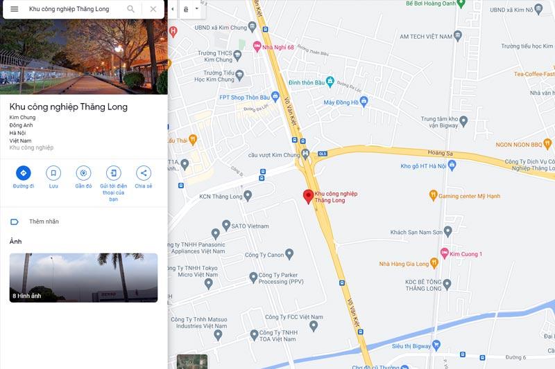 quy hoạch Khu công nghiệp Thăng Long