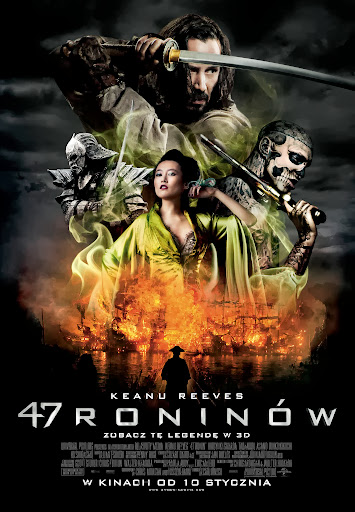 Polski plakat filmu '47 Roninów'