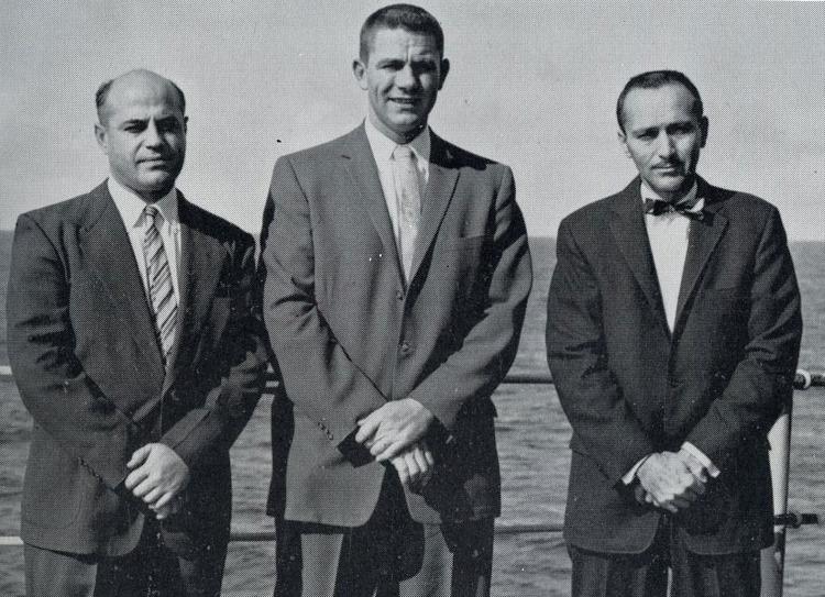 The Sandia team that designed firing mechanisms for atomic weapons. From left: Oscar Fligner, Art Kellum, and  John