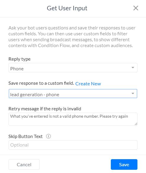 User Input Setup - SilFer Bots