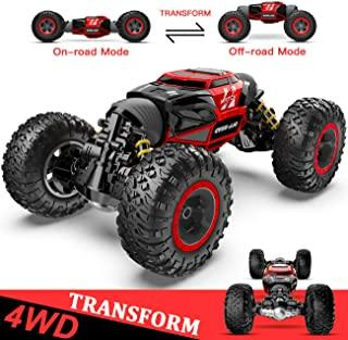 BEZGAR RC Car, 4X4 Kids Off Road 1:14 Large Size Transform Best Remote Control Cars High Speed Fast Racing Monster Vehicle Hobby Truck Electric Toy with Rechargeable Batteries for Boys Teens Adults
