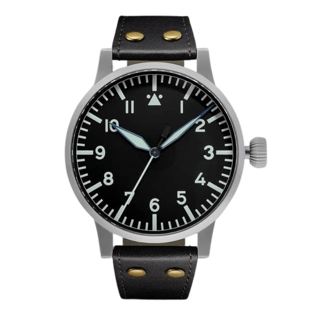Re-issue of a 55mm Loca Flieger watch style