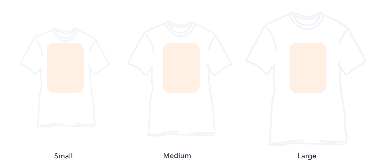 The printable area of a shirt that you can design on