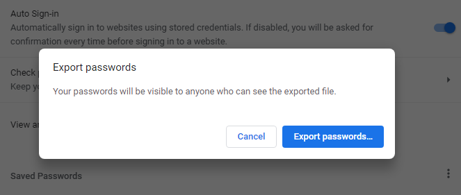 How to Import and Export Passwords in Chrome 4