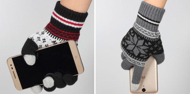 товары для зимы: перчатки для сенсорных экранов