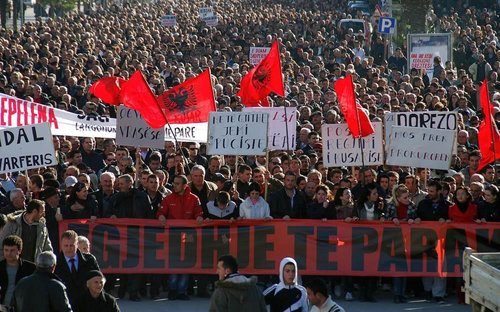 Демонстрация албанцев в Македонии