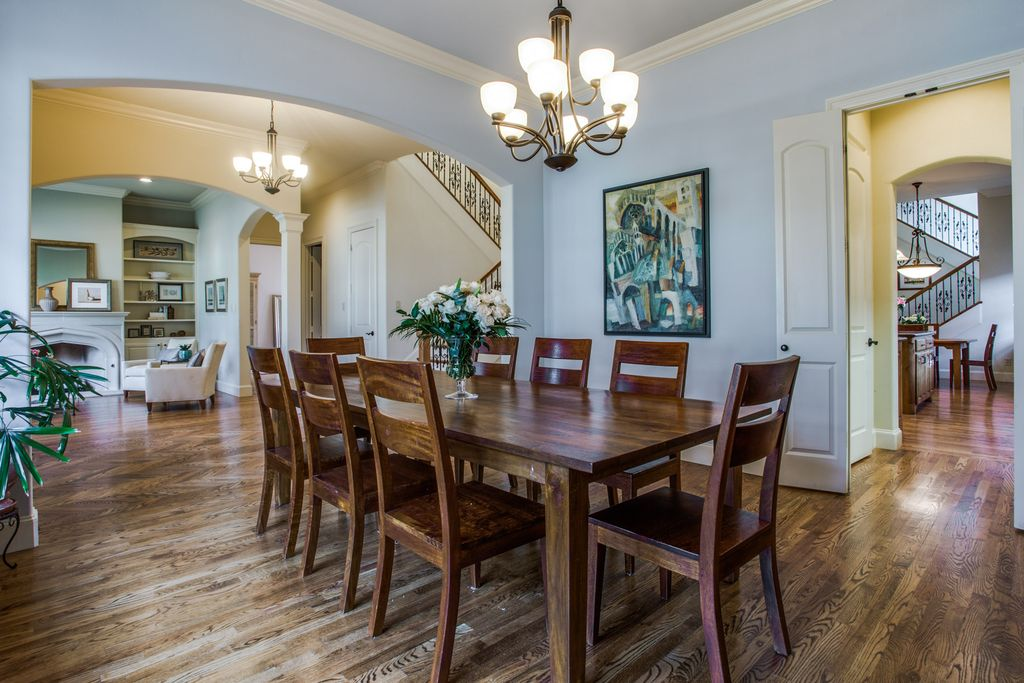 before dining room west highland park dallas home renovation and staging