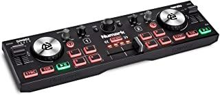 Numark DJ2GO2 Touch – Compact 2 Deck USB DJ Controller For Serato DJ with a Mixer/Crossfader, Audio Interface and Touch Ca...