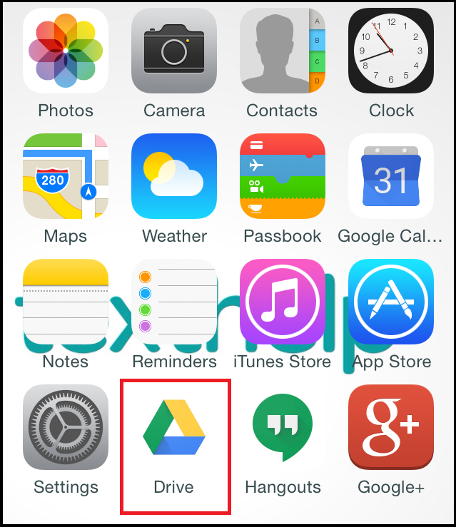 Drive app icon on phone screen
