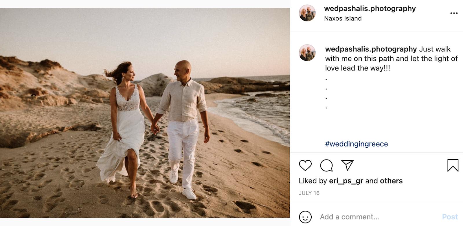 beach wedding instagram caption