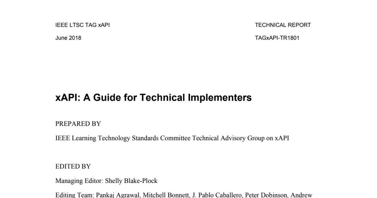 IEEE LTSC TAG xAPI 2018 Technical Report on xAPI_ March 2018 Master Draft.pdf