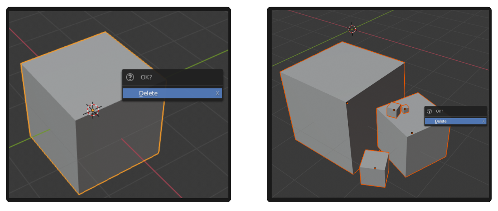 Object Management in Blender. Removing, duplicating, and renaming