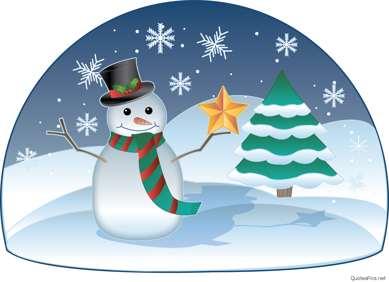 Funny december winter cards. Clipart snowman january