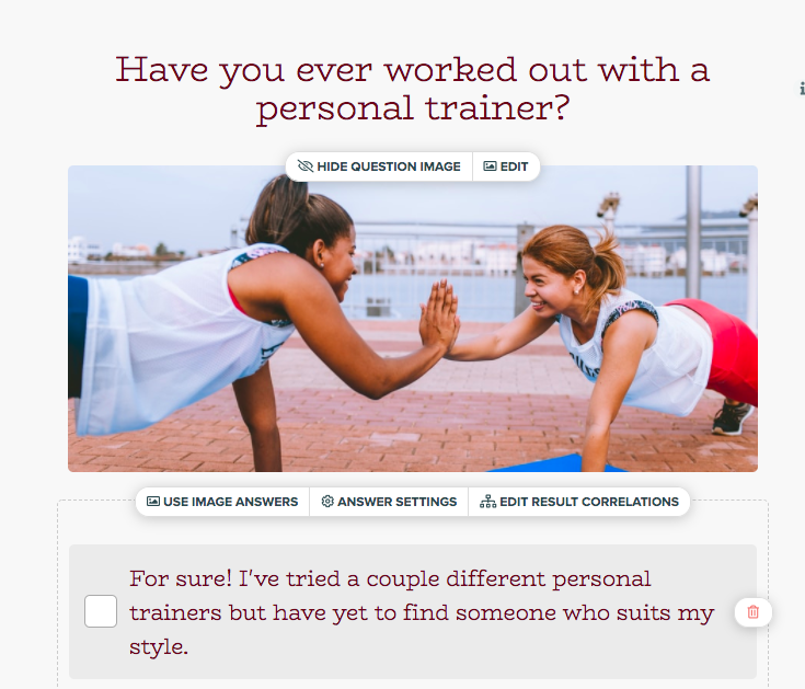Have you ever worked with a trainer quiz question