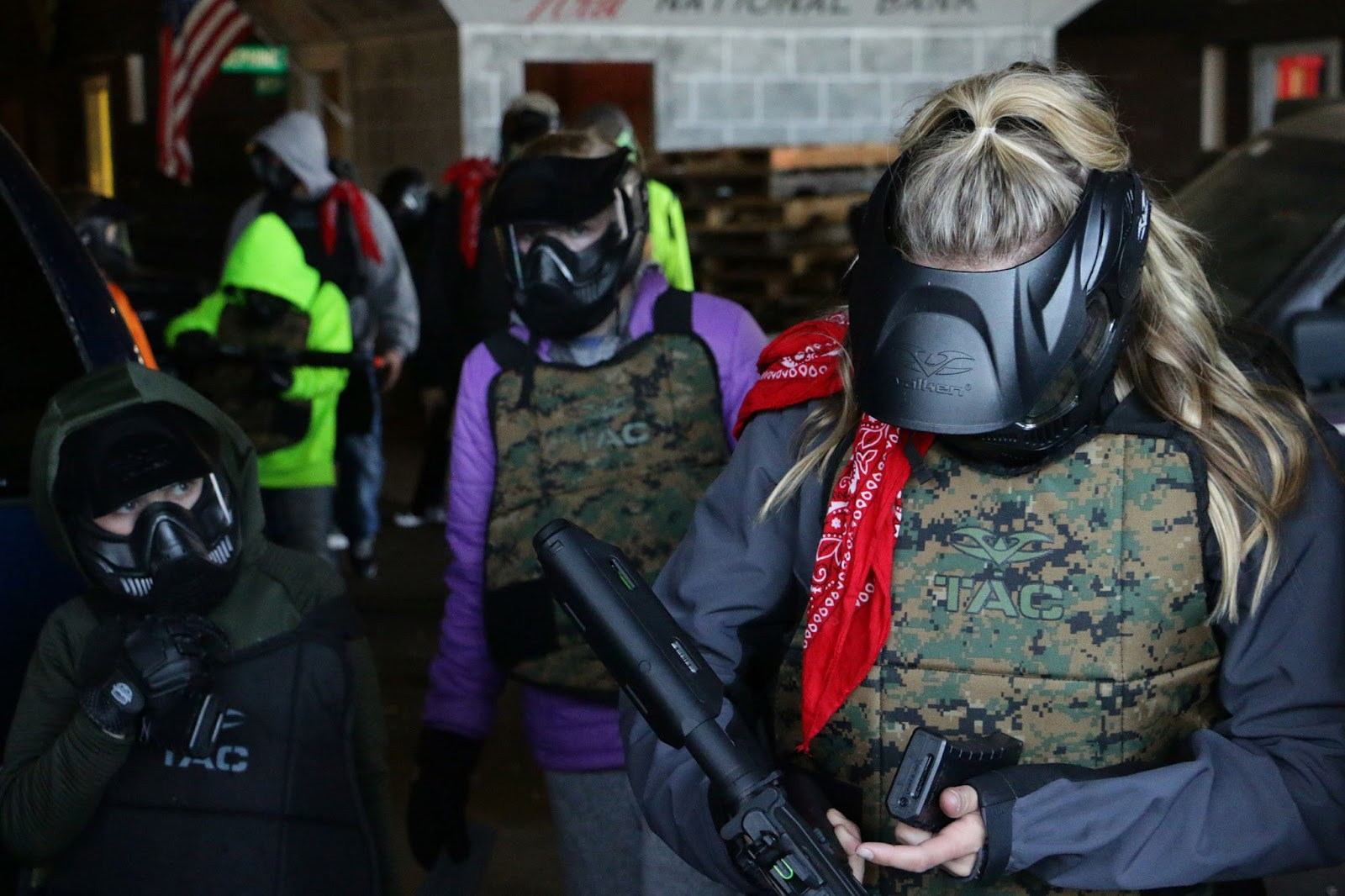 women in airsoft gear