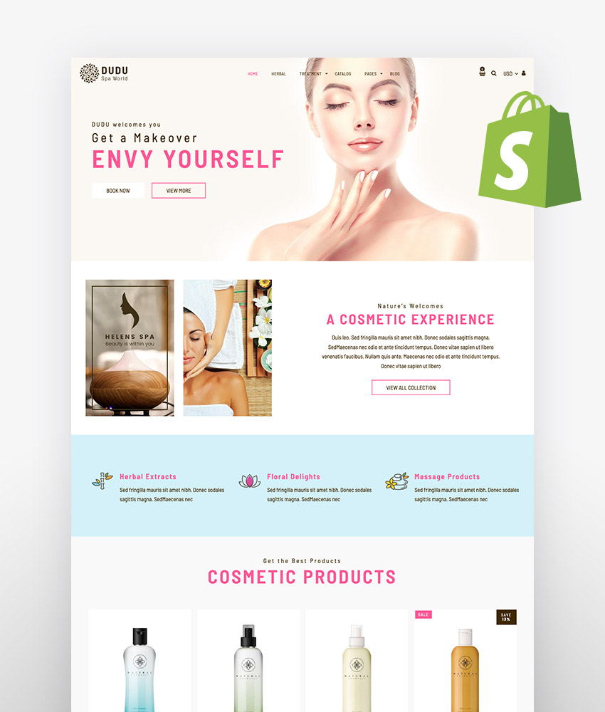 Shopify skin care themes DUDU