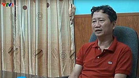 Ông Trịnh Xuân Thanh trong video Trịnh Xuân Thanh: Tôi đã ra đầu thú của Đài Truyền hình VTV phát vào ngày 3 tháng 8 năm 2017.