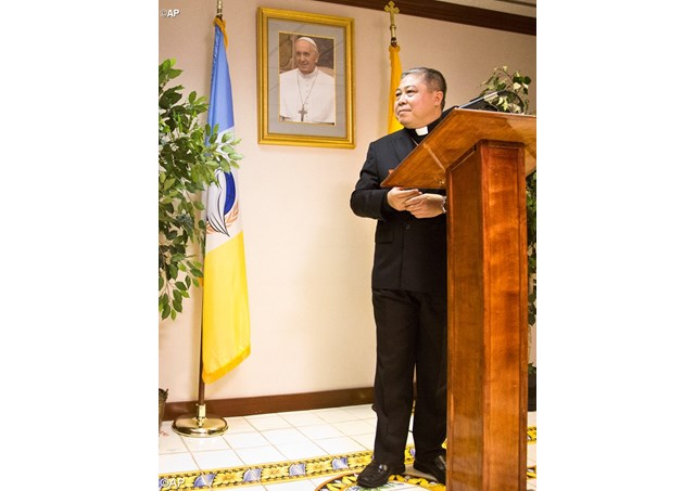 The Holy See's Permanent Observer to the United Nations, Archbishop Bernardito Auza - AP