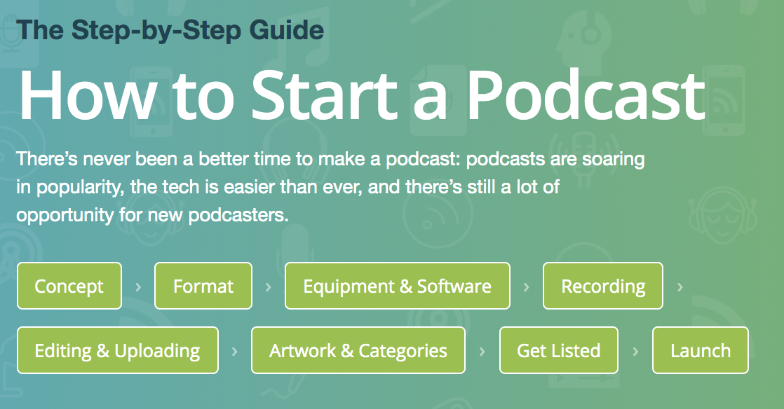 how to start a podcast step by step guide