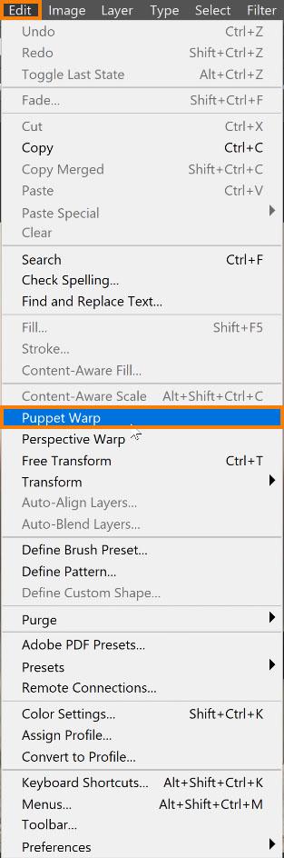 Select Puppet Warp