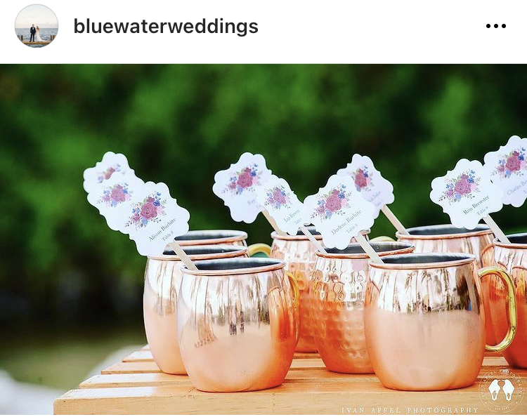 moscow mule cups for wedding guests
