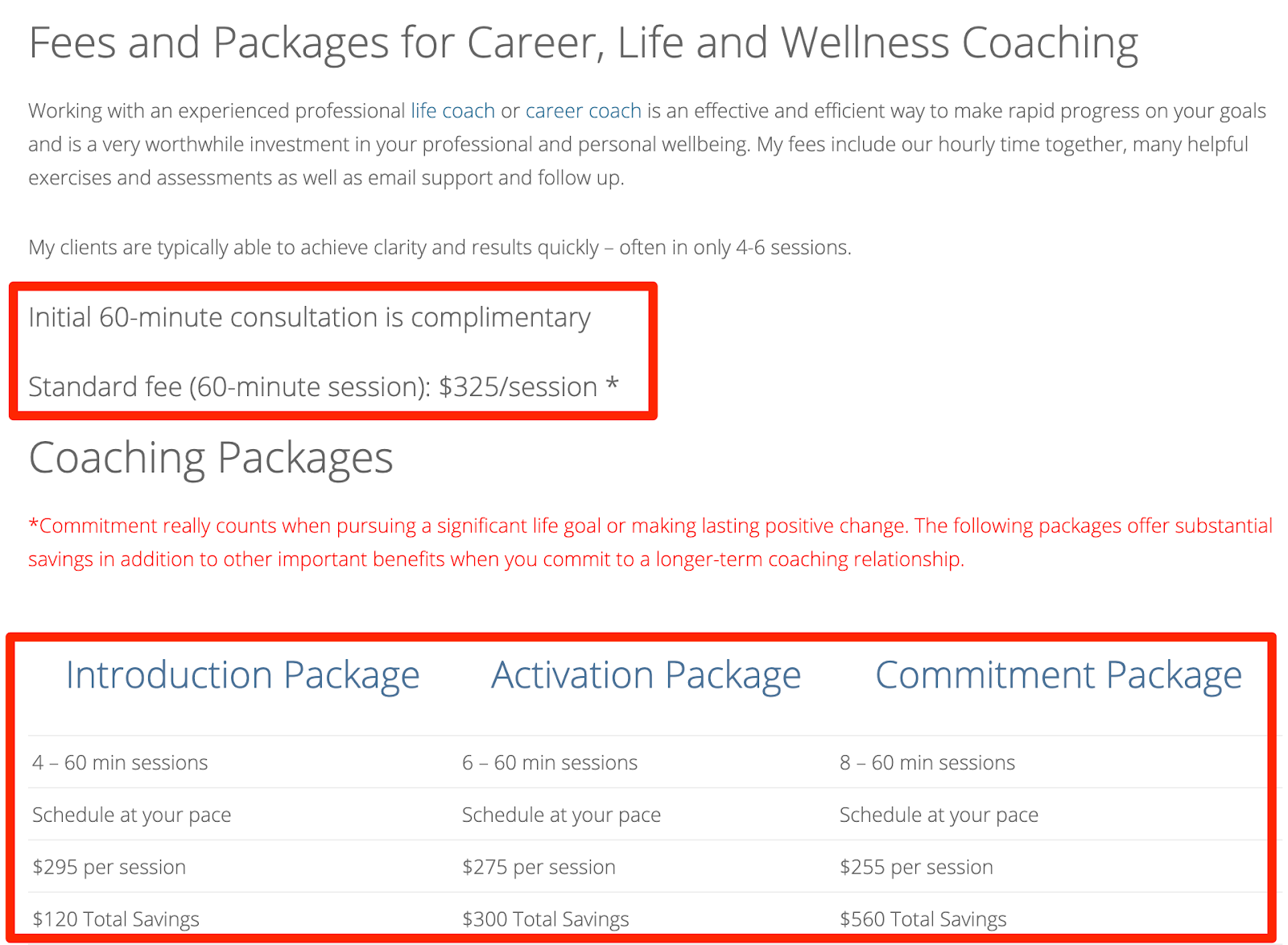Life Coach Booking Page