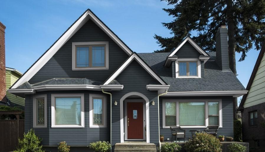 Home Color Options Blue House Siding With White Trim