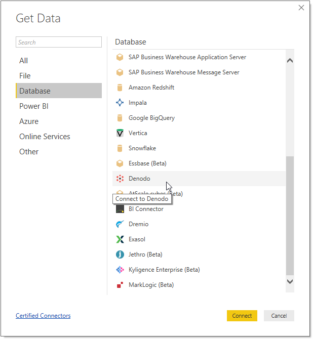 Denodo Power BI Custom Connector - User Manual