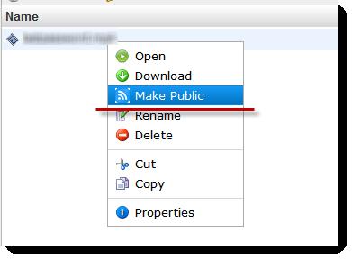 Делаем файл публичным