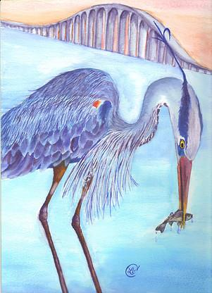 Image result for heron hunt   illustration