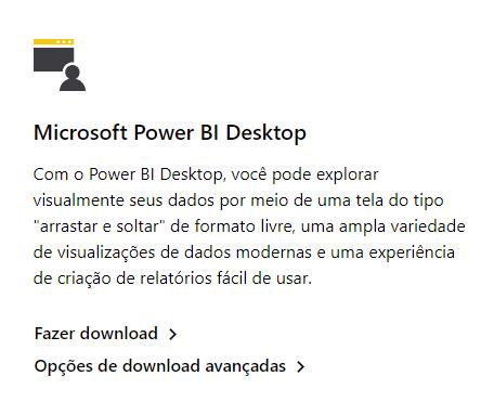 Como instalar o Power BI: Microsoft Power BI Desktop com as duas opções de download