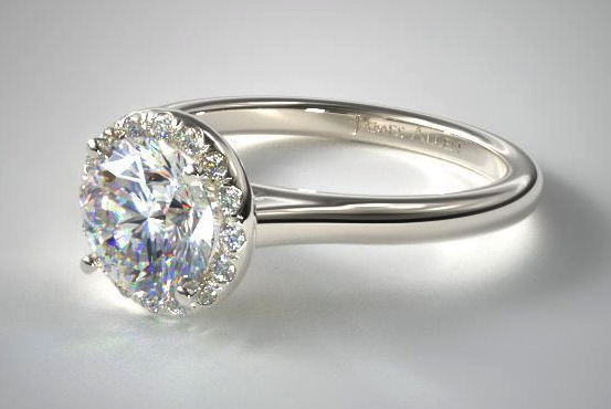Round Pavé Halo from James Allen