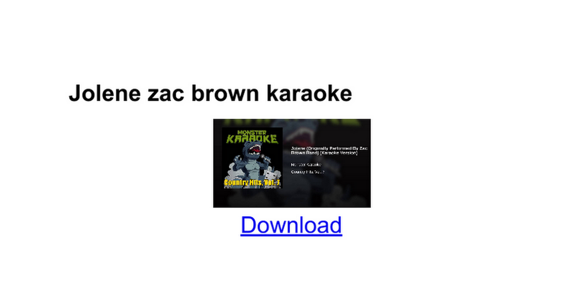 Jolene zac brown karaoke - Google Docs