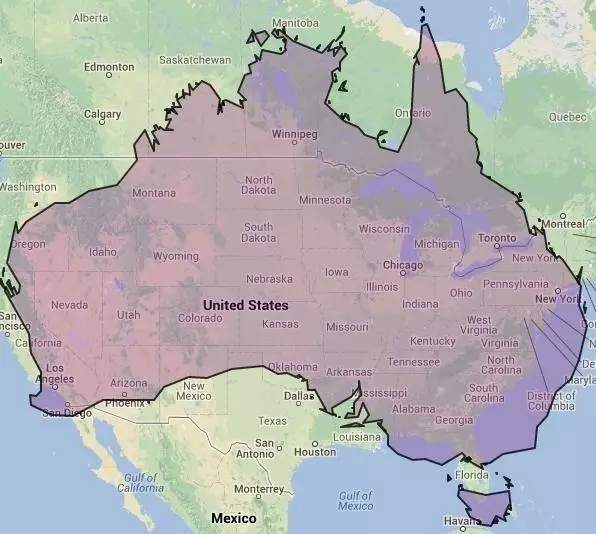 Australia is WAY Bigger Than You Think