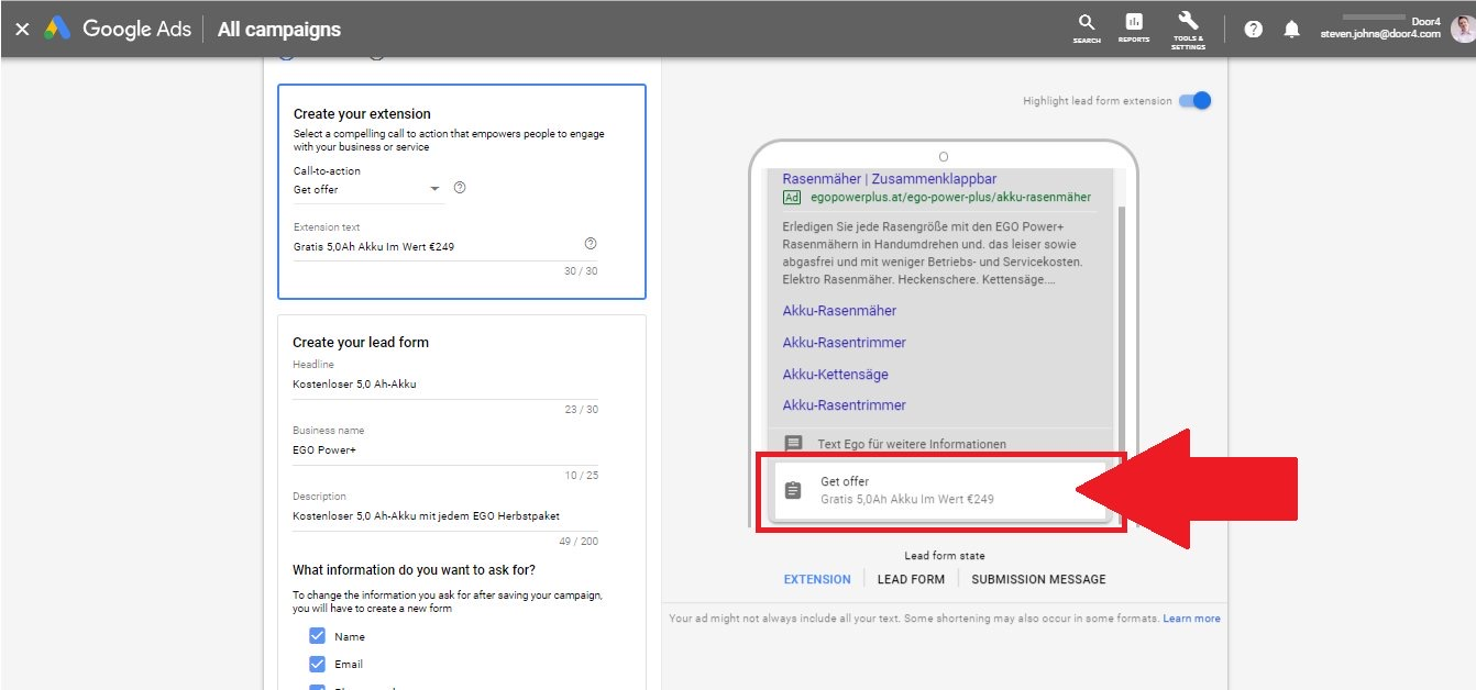 Google Ads Officially Announces Rollout of Lead Form Extensions