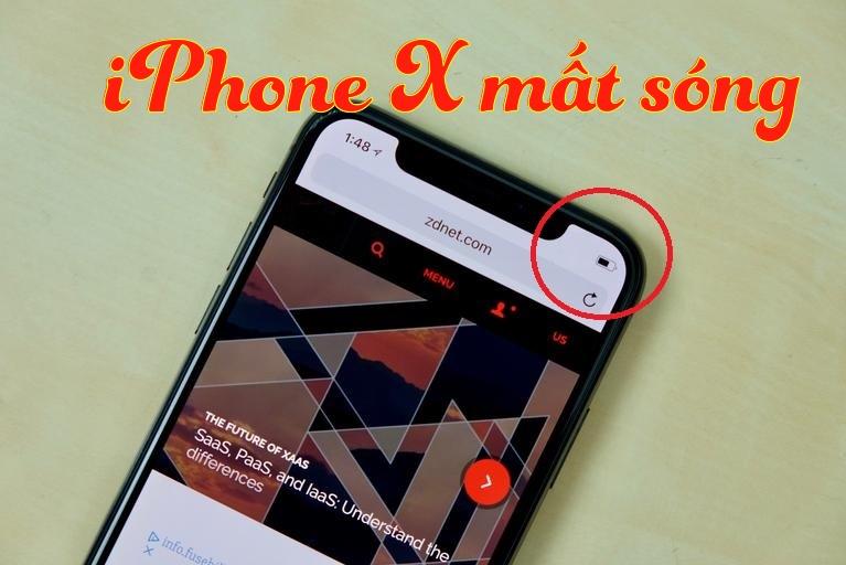 Sửa lỗi iPhone 8/8Plus/X mất sóng lấy ngay