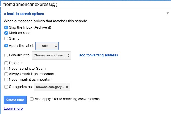 Using Labels in Gmail